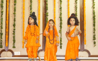 Our precious little pearls enacting a scene from the epic Ramleela